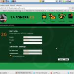 Cuando la Fonera 2.0 opera en 3G la funcionalidad Fon se interrumpe